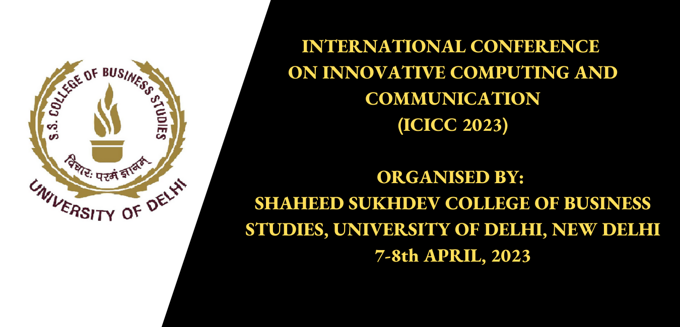 ICICC | International Conference on Innovative Computing and